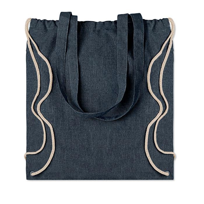 Рюкзак на шнурках из переработа, синий