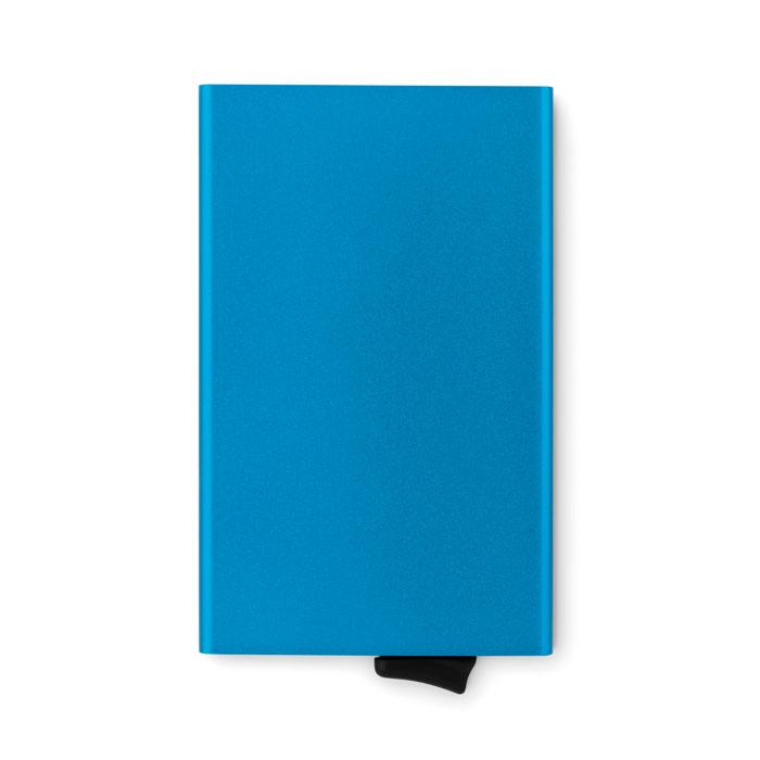 Карт холдер алюминиевый RFID, синий