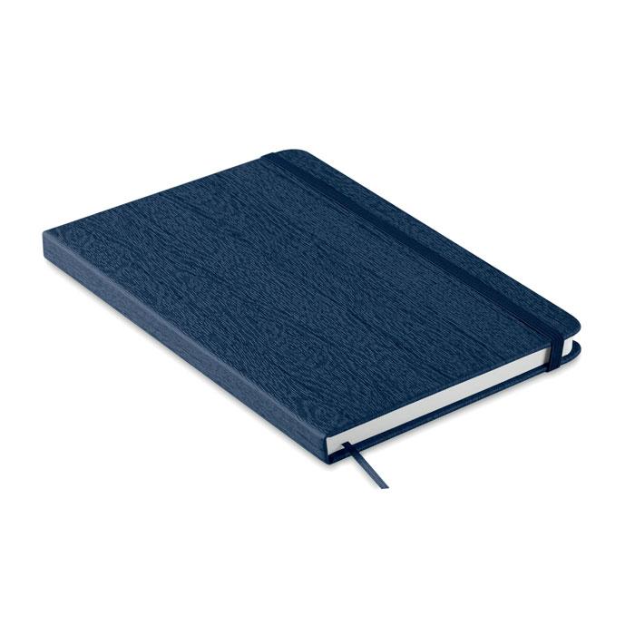 Блокнот А5 из ПУ с петелькой, синий