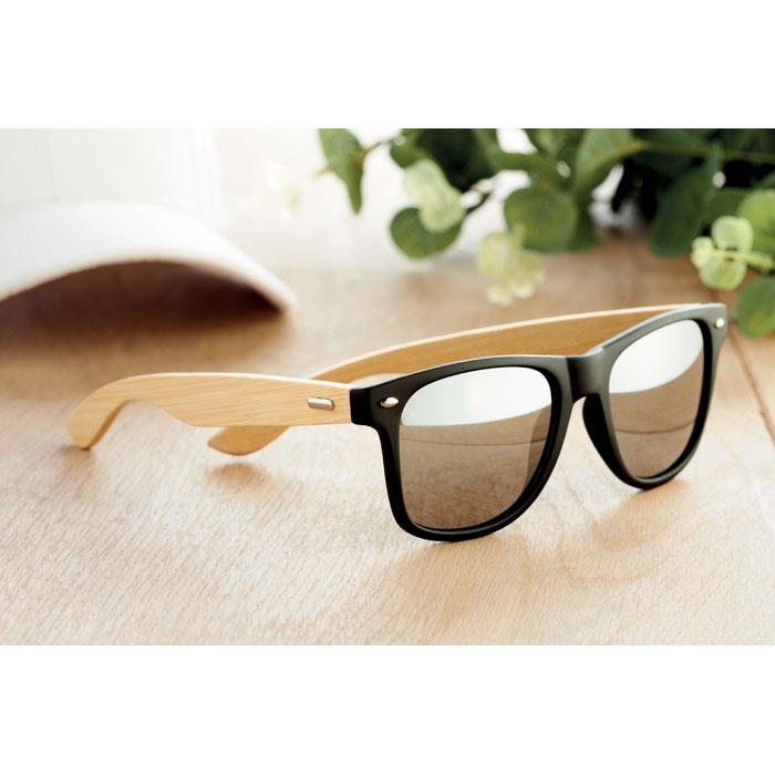 Очки солнцезащитные с бамбуковы, серебряный