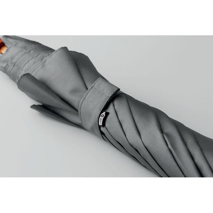 Зонт трость из эпонжа 23,5 дюйм, серый