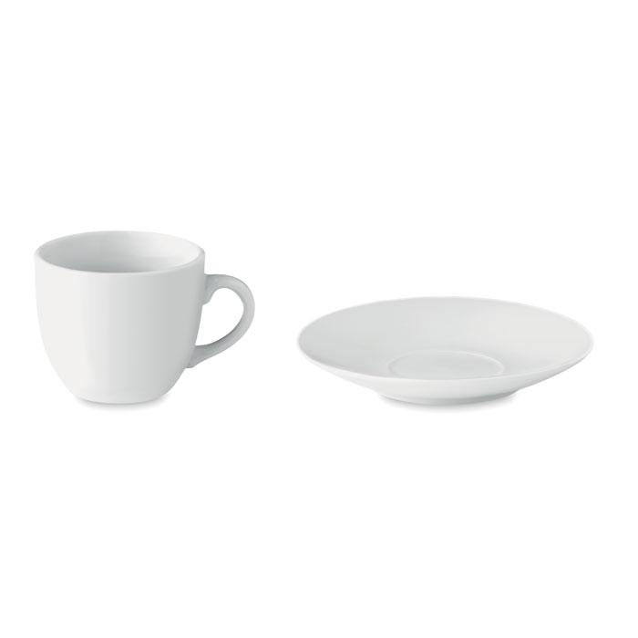 Чашка для эспрессо с блюдцем 80, белый
