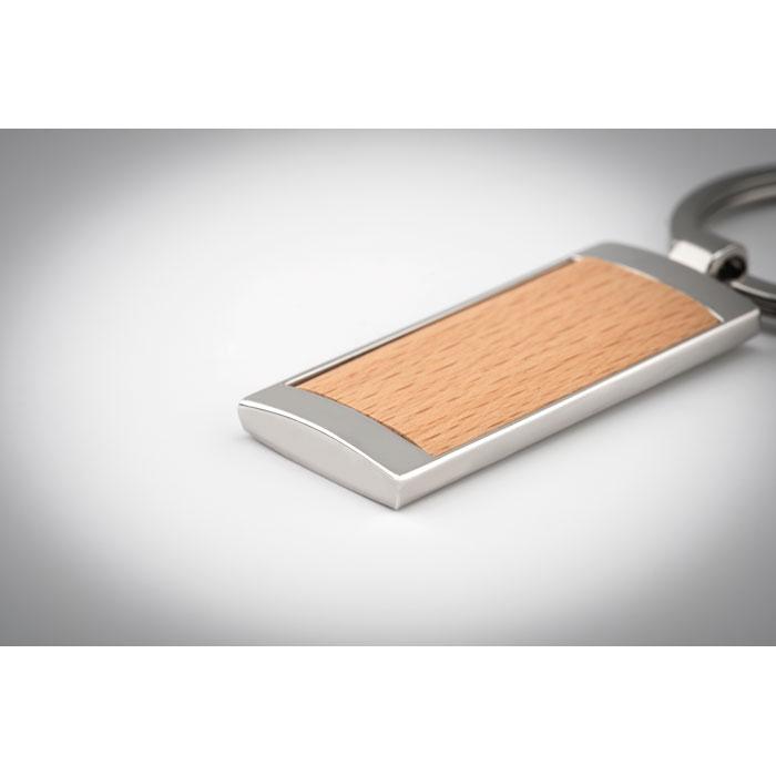 Брелок  для ключей прямоугольн, древесный
