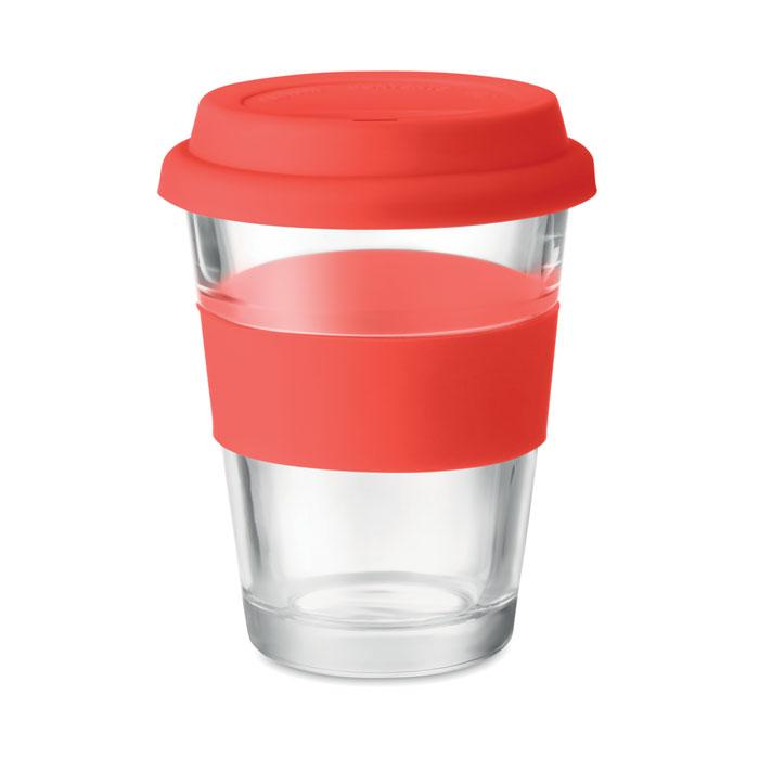 Стеклянный стакан 350 мл, красный