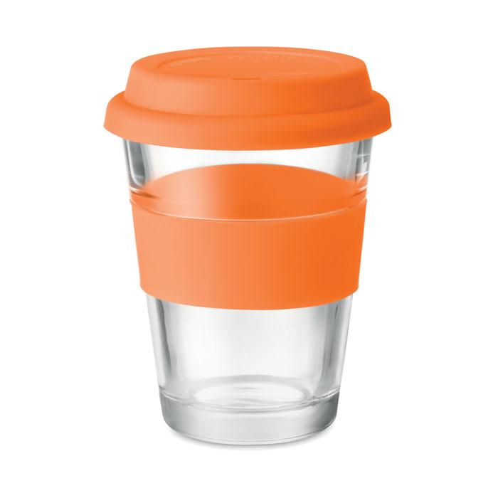 Стеклянный стакан 350 мл, оранжевый