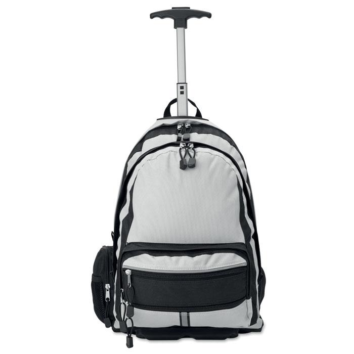 Рюкзак на колесах, серебряный