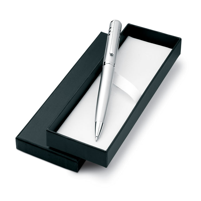 Ручка шариковая, тускло-серебряный