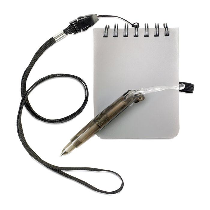 Блокнот с ручкой на шнурке