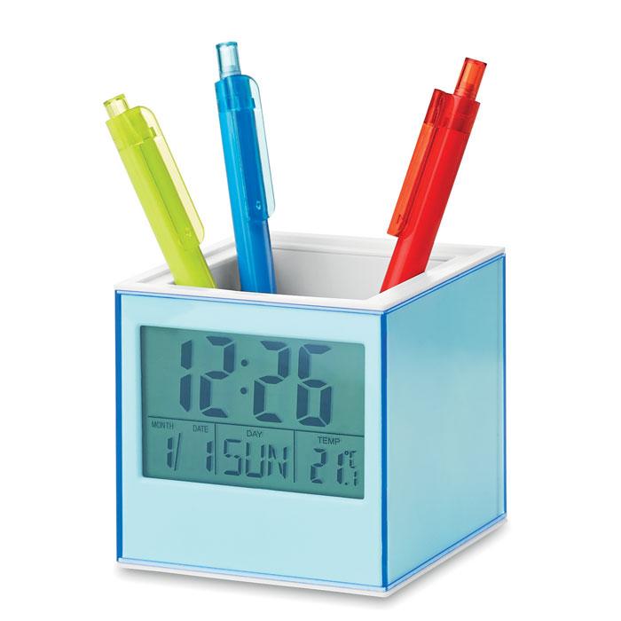Подставка для ручек, прозрачно-голубой
