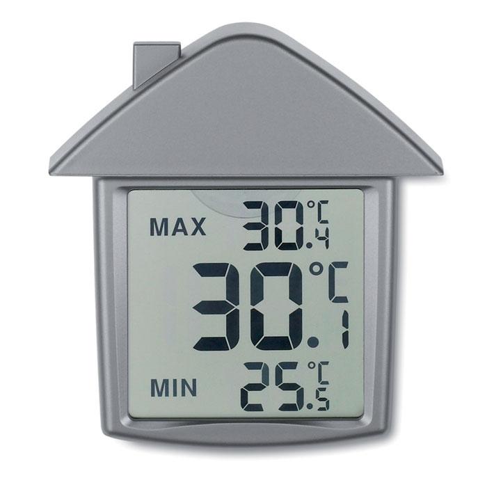 Метеостанция в форме дома, тускло-серебряный