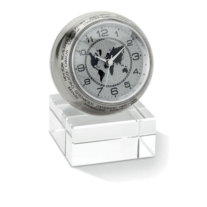 Часы настольные, серебряный