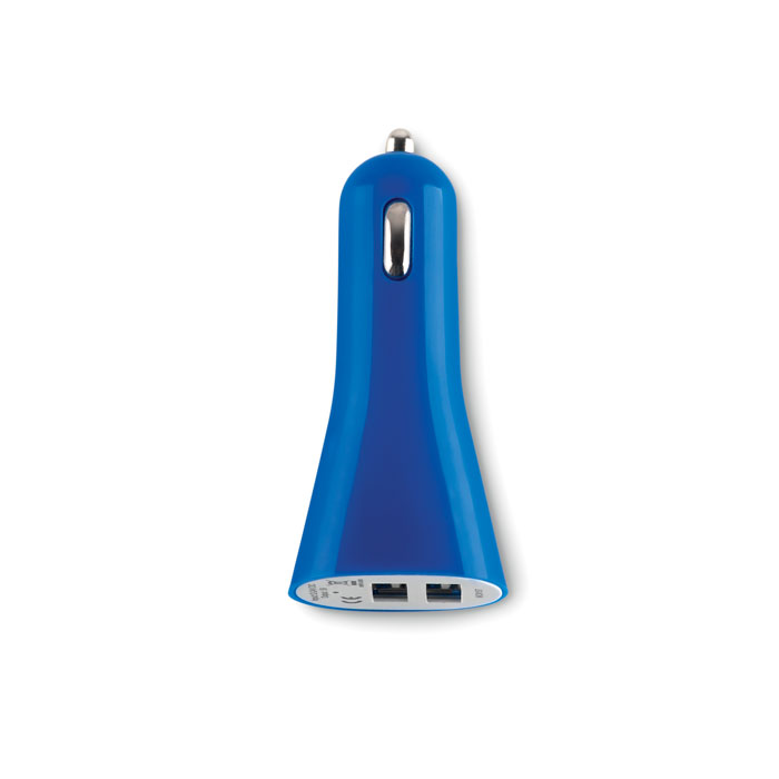 USB адаптер для автомобиля, синий