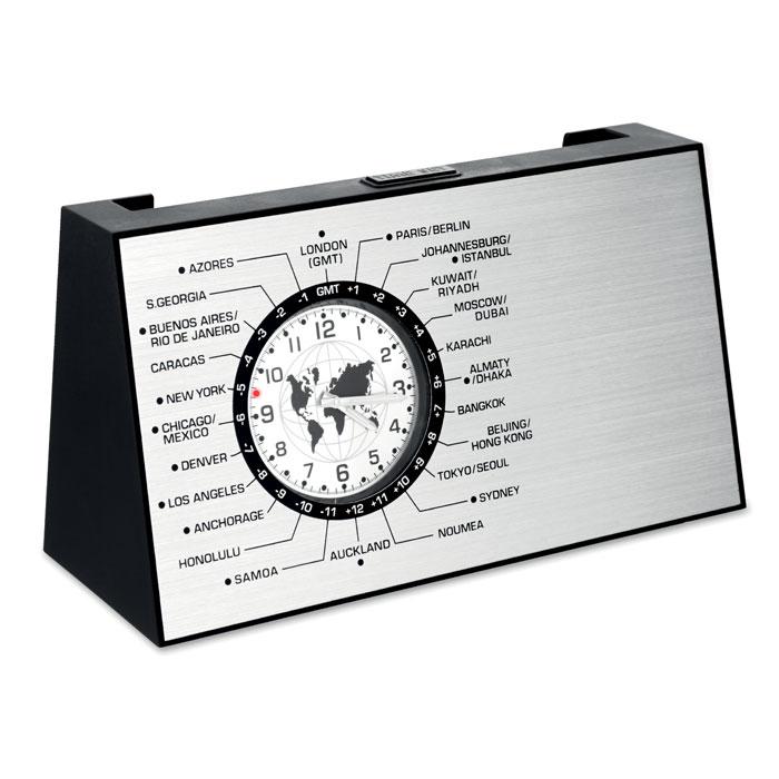 Часы настольные, тускло-серебряный