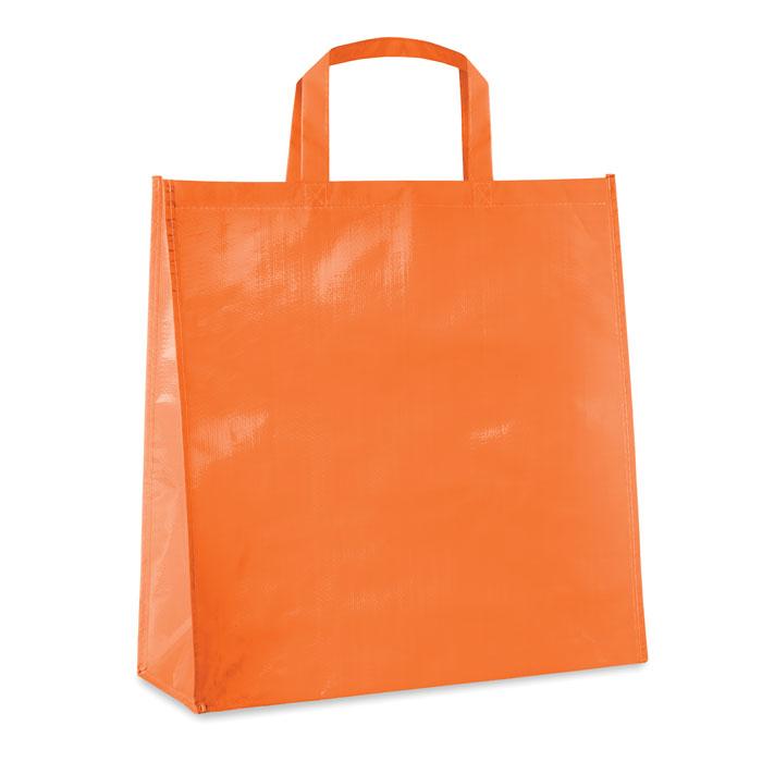 Сумка ламинированная из тканог, оранжевый
