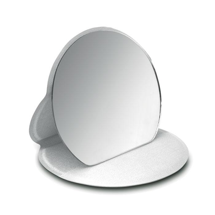 Зеркало косметическое, серебряный