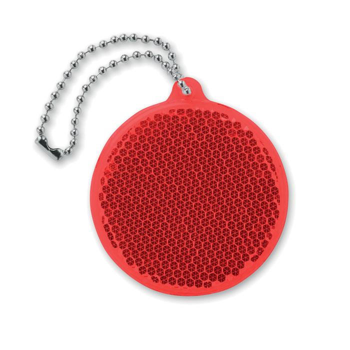 Светоотражатель круглой формы, красный