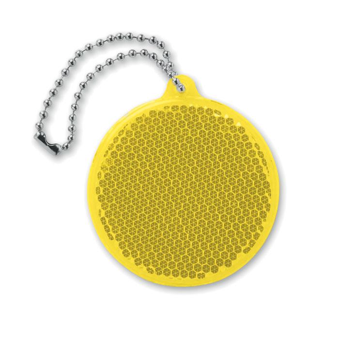 Светоотражатель круглой формы, желтый