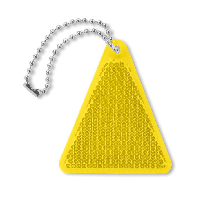 Светоотражатель треугольной фор, желтый