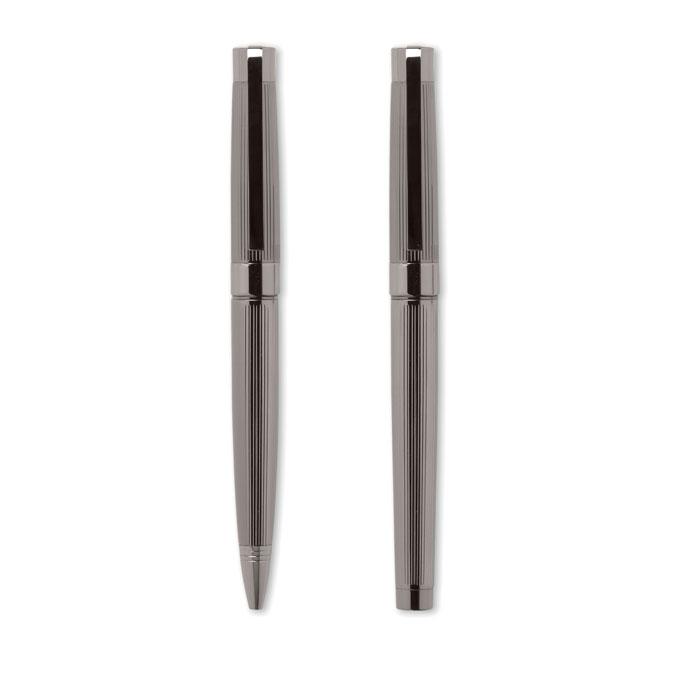 Набор ручка и роллер, коричневый