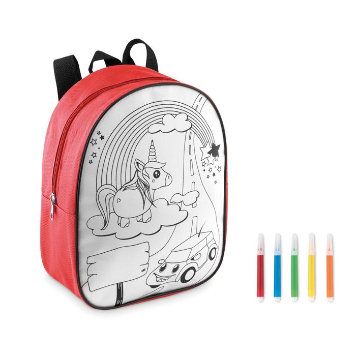 Рюкзак с маркерами, красный