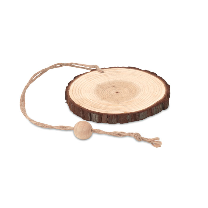 Подвеска круглая, древесный