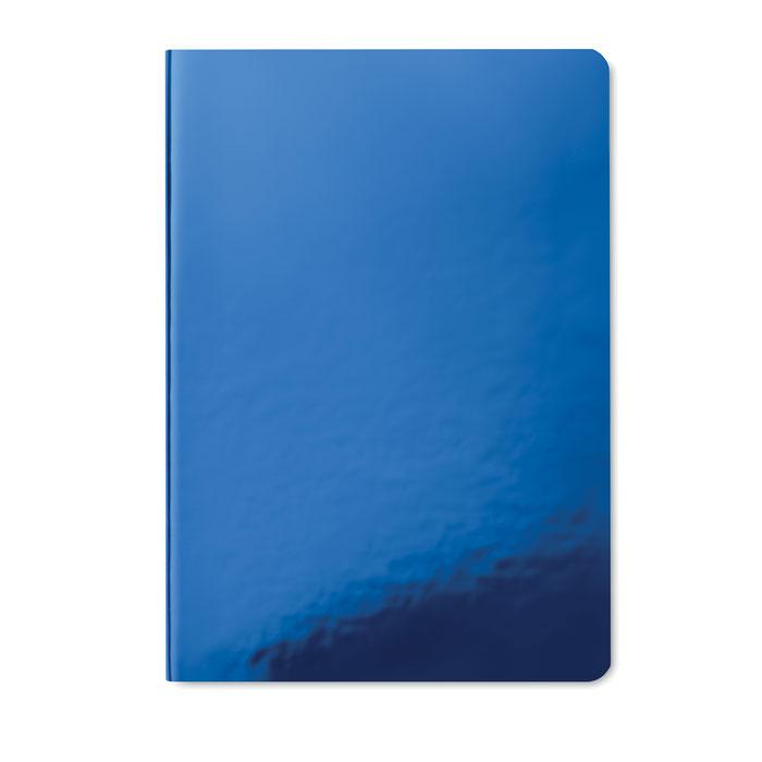 Блокнот с блестящей обложкой, синий