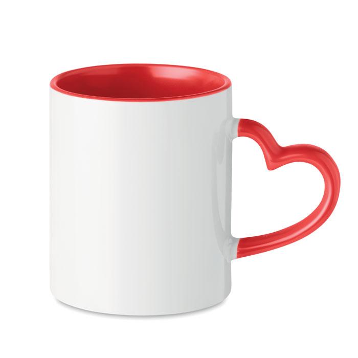 Кружка керамическая под сублима, красный