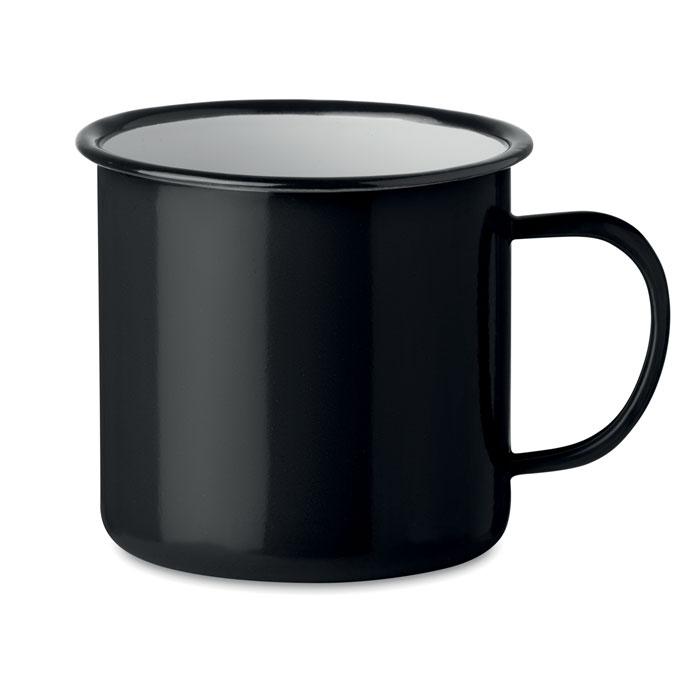 Кружка металлическая винтаж 350, черный