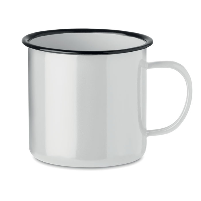 Кружка металлическая винтаж 350, белый