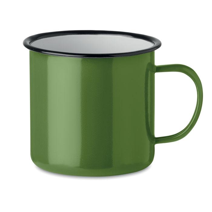 Кружка металлическая винтаж 350, зеленый-зеленый