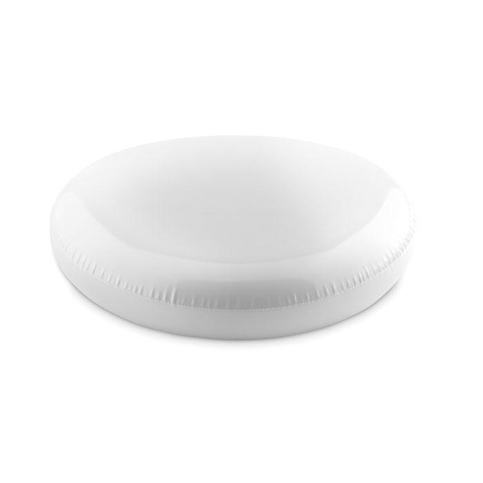 Летающая тарелка фрисби надувна, белый