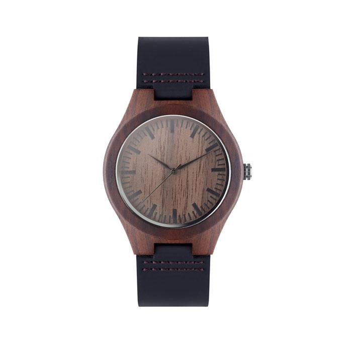 Наручные часы на кожаном ремешк, коричневый