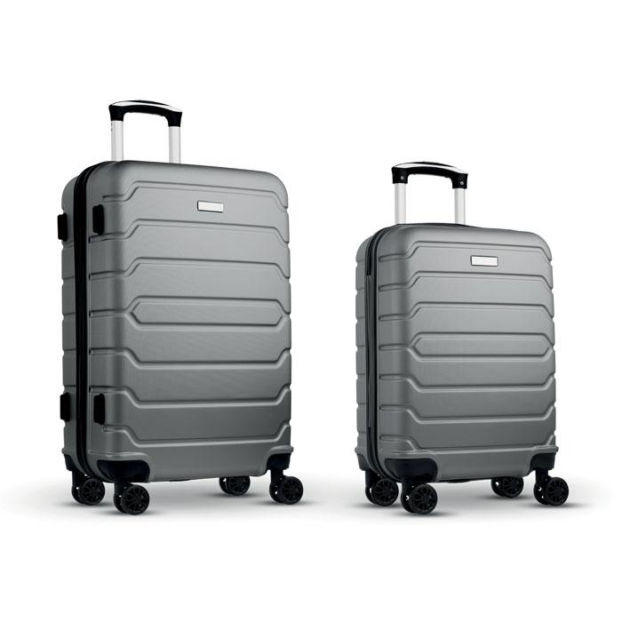 Набор из 2 чемоданов из ABS, тускло-серебряный